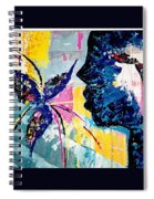Make A Wish Abstract Art Figure Painting  Spiral Notebook