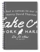 Make Art Work Hard Spiral Notebook