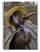 Make Way For Ducklings B.a.a. 5k Spring Bonnet Blanket Spiral Notebook