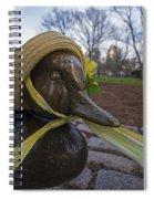 Make Way For Ducklings B.a.a. 5k Spring Bonnet Spiral Notebook