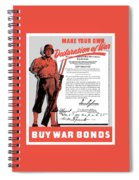 Make Your Own Declaration Of War Spiral Notebook