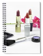 Makeup Brush And Cosmetics Spiral Notebook