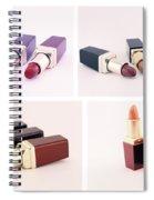 Makeup Set Of Lipsticks Isolated Spiral Notebook