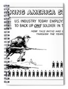 Making America Strong Cartoon Spiral Notebook