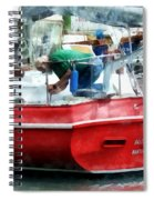 Making The Boat Shipshape Spiral Notebook