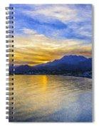 Makrygialos Sunset Digital Painting Spiral Notebook