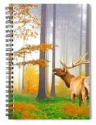 Male Elk Bugling Spiral Notebook