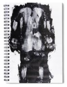 Male Nude Back Spiral Notebook