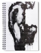 Male Nude Side Spiral Notebook