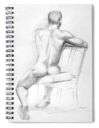 Male Nude With Chair Spiral Notebook