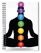 Male Silhouette Chakra Illustration Spiral Notebook