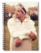 Male Snowboarder Waiting For Ski Season Spiral Notebook