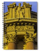 Male Statue Palace Of Fine Arts Spiral Notebook