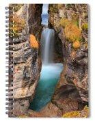 Maligne Canyon Falls Vertical Panorama Spiral Notebook