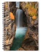 Maligne Canyon Vertical Panorama Spiral Notebook
