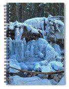 Maligne Canyon Winter Wonders Spiral Notebook