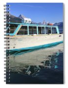 Maligne Lake Tour Boat Reflection Spiral Notebook