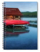 Maligne Tours Boat House Spiral Notebook