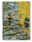 Mallards On Golden Pond 3 Spiral Notebook