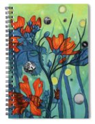 Mallow With Grass And Green Spiral Notebook