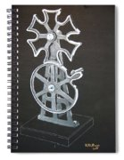 Maltese Cross Gears Spiral Notebook