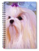 Maltese Portrait - Square Spiral Notebook