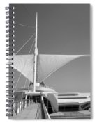 Mam Wings Spread B-w Spiral Notebook