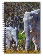 Mama And Baby Elephant Spiral Notebook