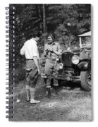 Man And Woman In Fishing Gear Spiral Notebook
