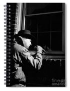 Man Breaking Into Building, C.1950s Spiral Notebook