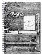 Man Drawing A Lute 1523 Spiral Notebook