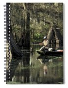 Man Fishing In Cypress Swamp Spiral Notebook