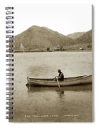 Man In A Row Boat Named Lizzie On Palmer Lake On The Colorado Di Spiral Notebook