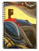 Man In Chair 2 Spiral Notebook