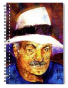 Man In The Panama Hat Spiral Notebook