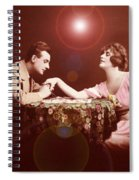 Man Kissing Womans Hand Romantic Couple Spiral Notebook