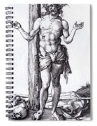 Man Of Sorrows With Hands Raised 1500 Spiral Notebook