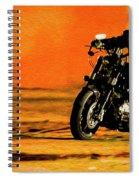 Man On Bike Spiral Notebook