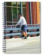 Man On The Bridge Spiral Notebook