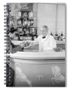 Man Ordering Another Drink, C. 1940s Spiral Notebook