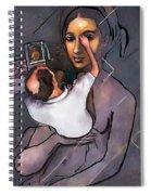Man Painting Woman Spiral Notebook