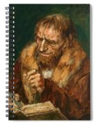 Man Reading 1922 Spiral Notebook