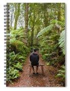 Man Relaxing In Strahan Rainforest Retreat Spiral Notebook