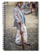 Man Smoking A Cigar Spiral Notebook