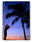 Man Swinging Driver Spiral Notebook
