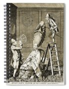 Man Using Sextant On Womans Coiffure Spiral Notebook