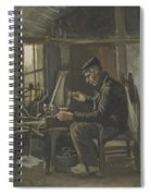 Man Winding Yarn Nuenen, May - June 1884 Vincent Van Gogh 1853  1890 Spiral Notebook