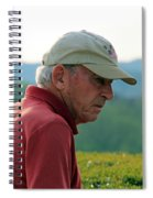 Man With American Flag On Cap Spiral Notebook