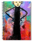 Man With Arms Akimbo Spiral Notebook