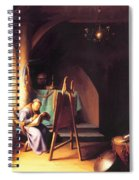 Man With Easel Spiral Notebook